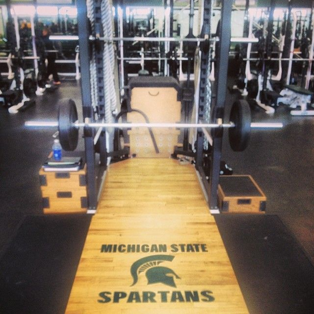Unreal Amount Of Equipment At Michiganstate S Weightroom Padgram Michigan State Spartans Msu Spartans Msu Spartans Basketball
