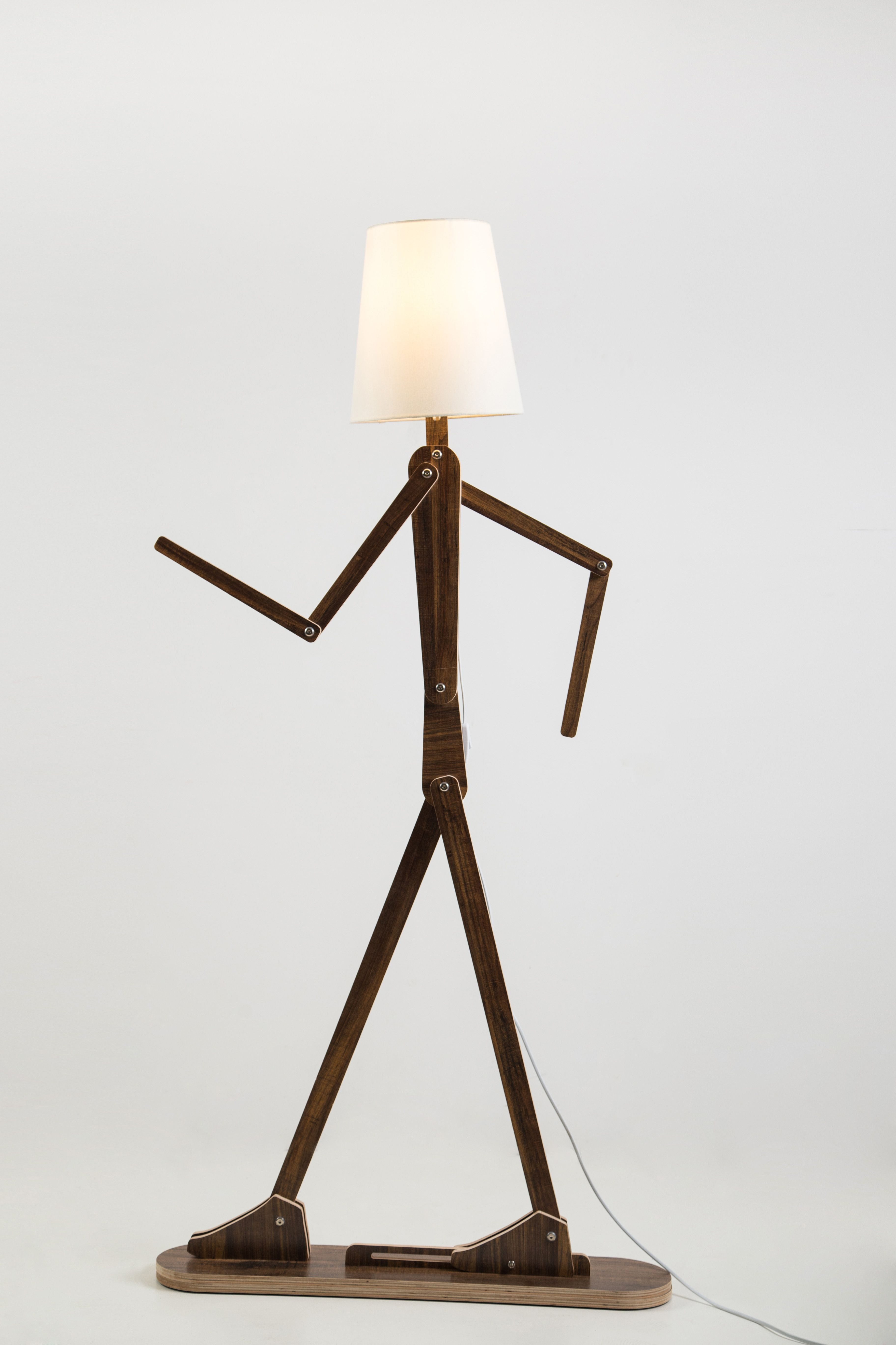 Diy fancy human shape standard lamp with flexible arm rustic wooden diy fancy human shape standard lamp with flexible arm rustic wooden home lighting with four mozeypictures Choice Image