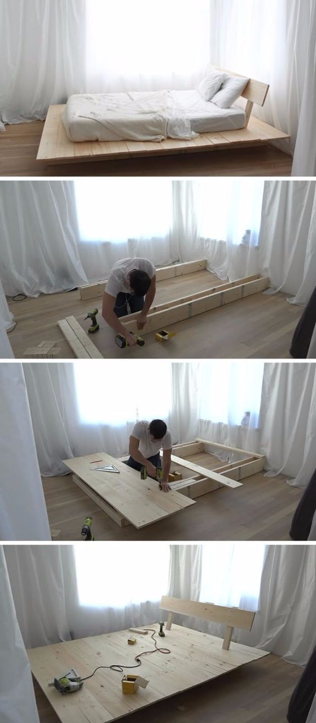 35 DIY Platform Beds For An Impressive Bedroom #palletbedroomfurniture