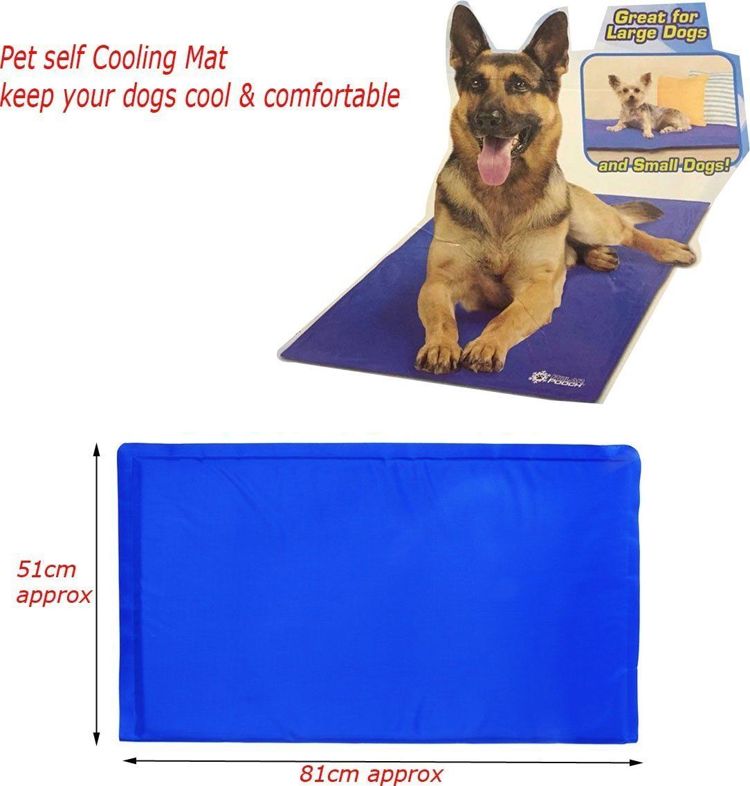 Ahandr International 81cm X 51cm Large Cool Mat Self Cooling Gel Mat Pet Dog Cat Heat Relief Non Toxic Summer You Can Ge Cat In Heat Dog Supplies List Dogs