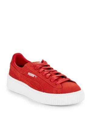 Puma Suede Platform Sneaker (women) In
