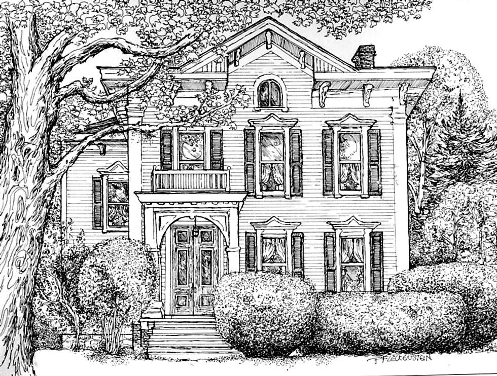 Pen drawing on pinterest pens ink and line drawings for House sketches from photos