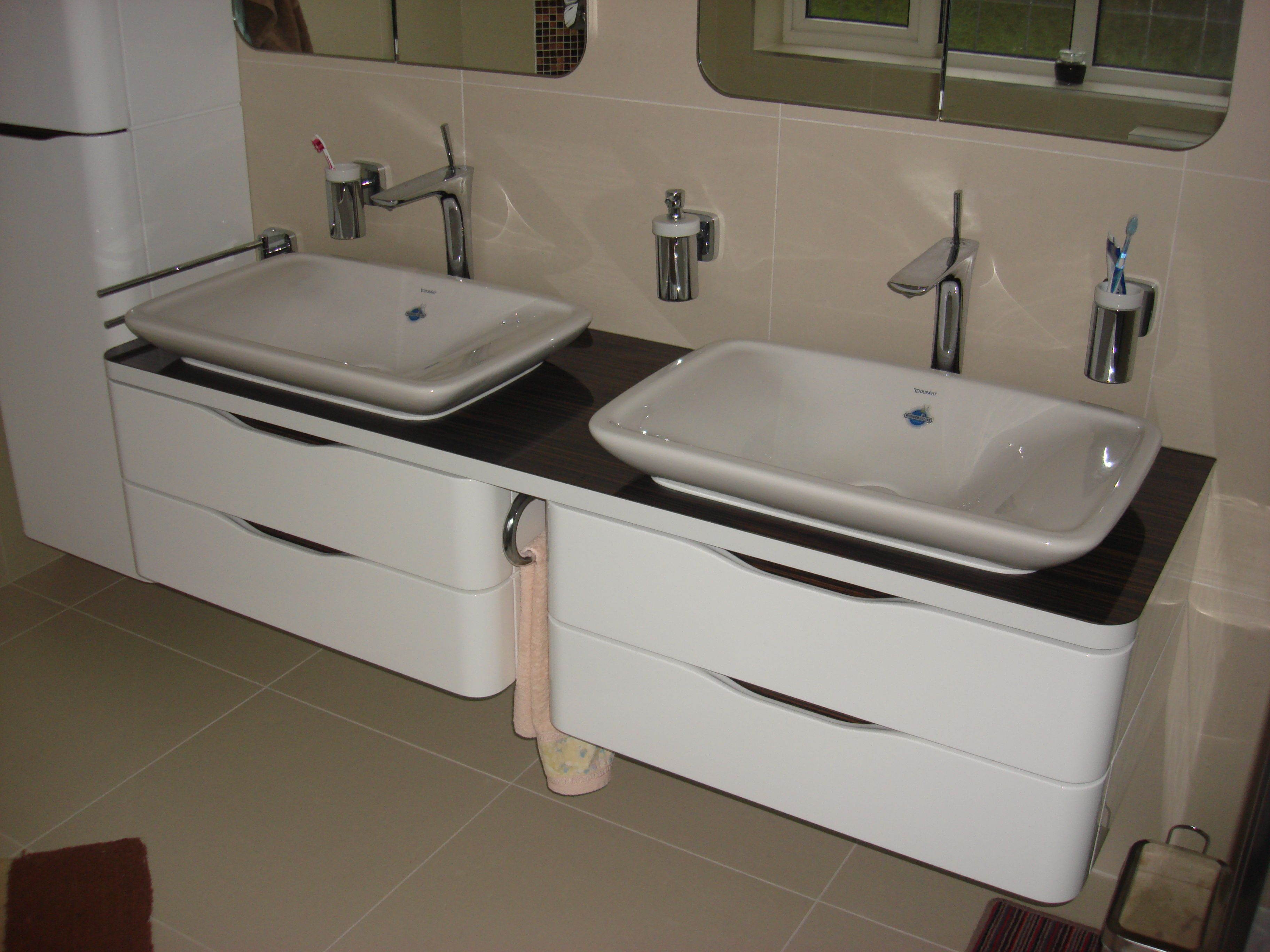 Merveilleux Duravit PuraVida 700mm. Sit On Deep Basins And 800mm. Drawer Units