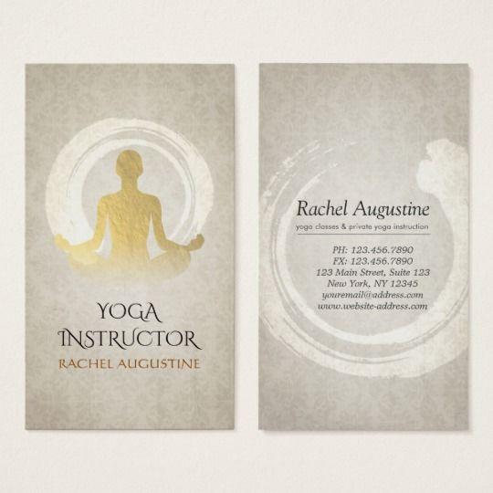 carte de visite reiki Carte De Visite Symbole élégant de ZEN d'instructeur de méditation