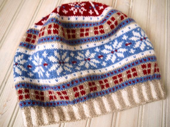 Fairisle Style Winter Tam by PippisTail on Etsy