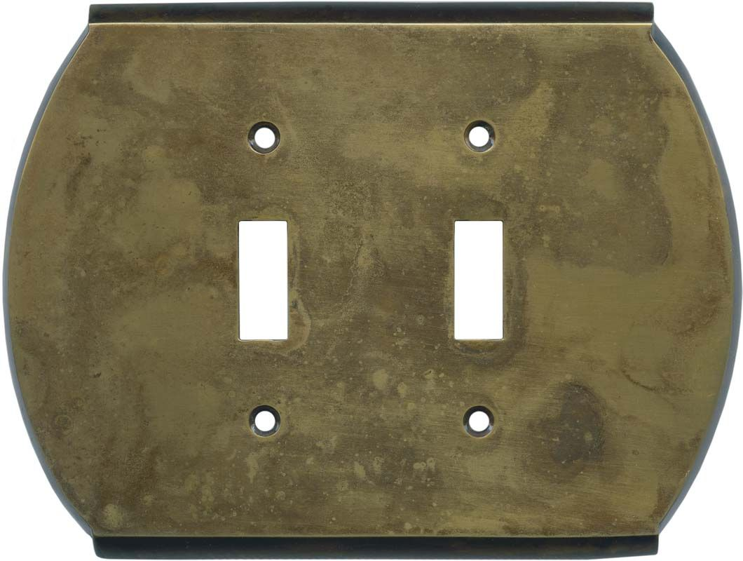 Brass Light Switch Covers Amusing Ovalle Dappled Antique Brass Switch Plates Outlet Covers & Rocker Design Inspiration