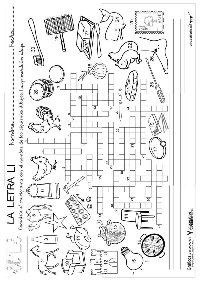 Pasatiempos Lectoescritura Pdf Google Drive Crucigrama Para Niños Crusigramas Para Niños Lectoescritura