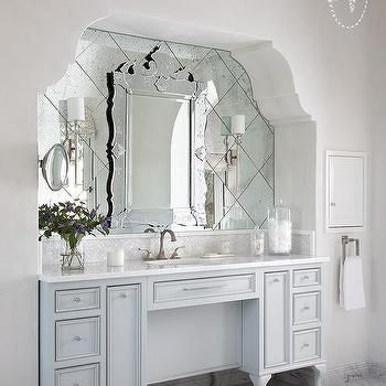 Bathroom Alcove With French Washstand
