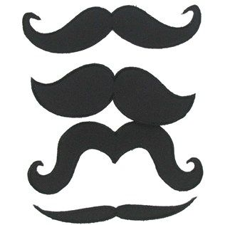 Black Mustache Iron-On Appliques | Shop Hobby Lobby | DIY
