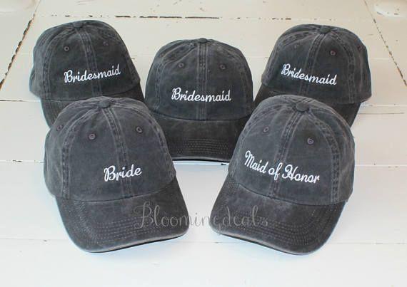 ab3f65f287728 Wedding Party Baseball Caps Bachelorette Party Hats Bridesmaid