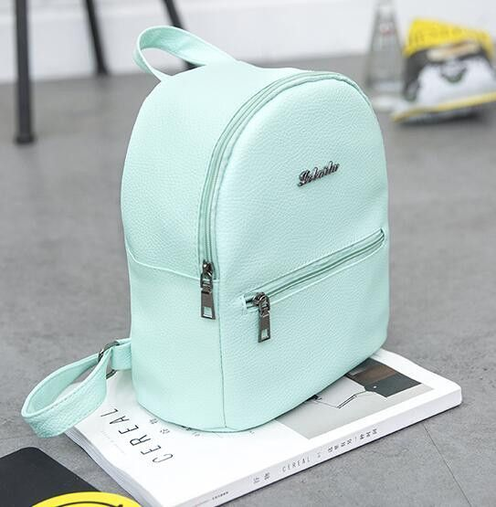 1e061636e2 brands Backpack Candy color small backpack for teenagers girls high quality  ladies famous designer travel bag 6 color optional