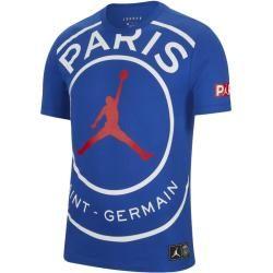 Paris Saint-Germain Logo-T-Shirt für Herren – Blau Nike