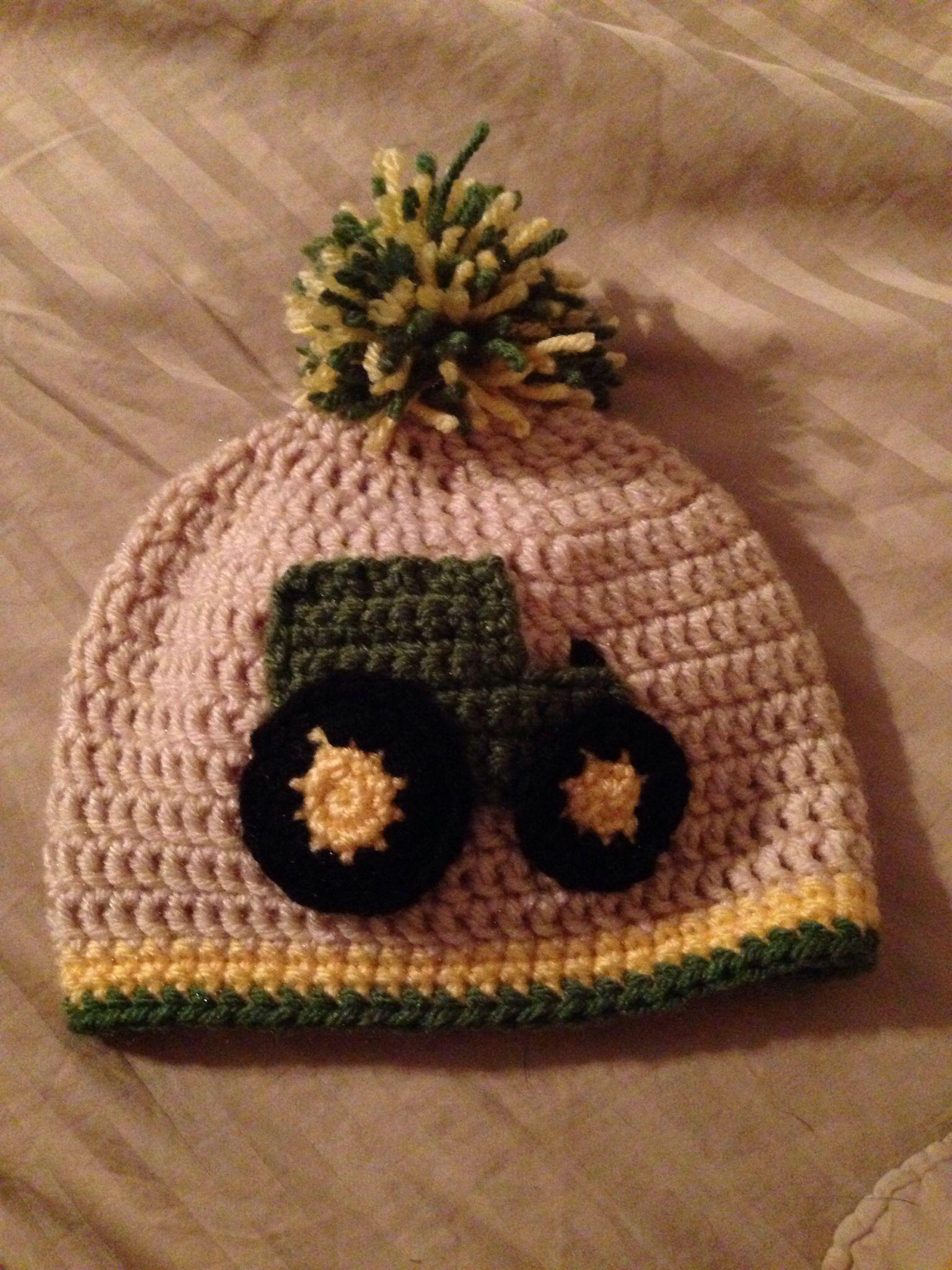 9190b2ccc1f Crochet john Deere hat