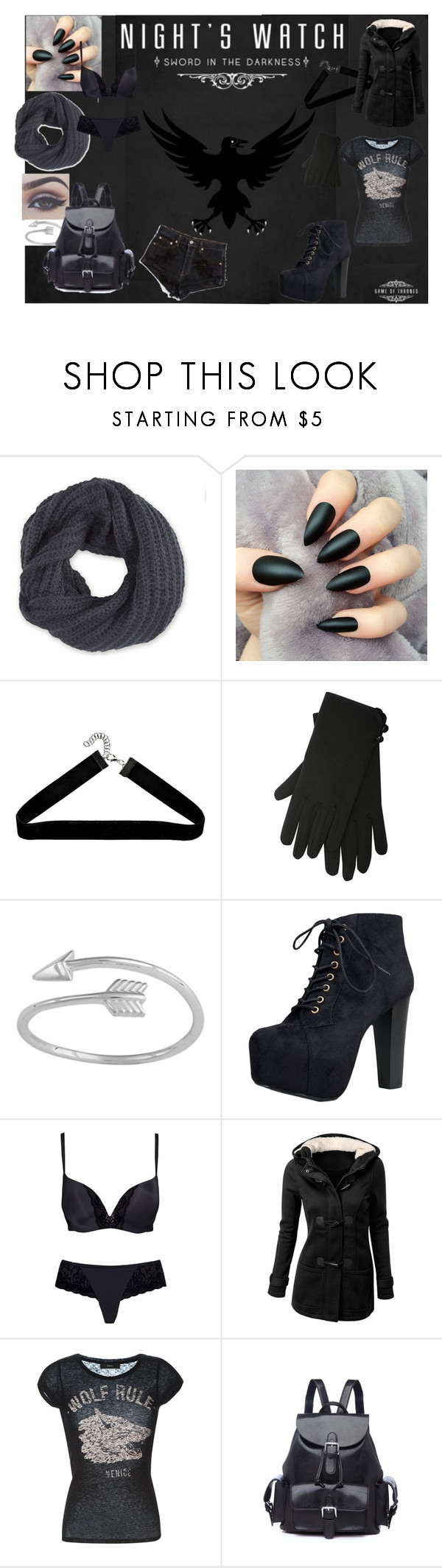 """""""Night's Watch"""" by amber2727 on Polyvore featuring Frenchi, M&Co, Speed Limit 98, Triumph and Diesel"""