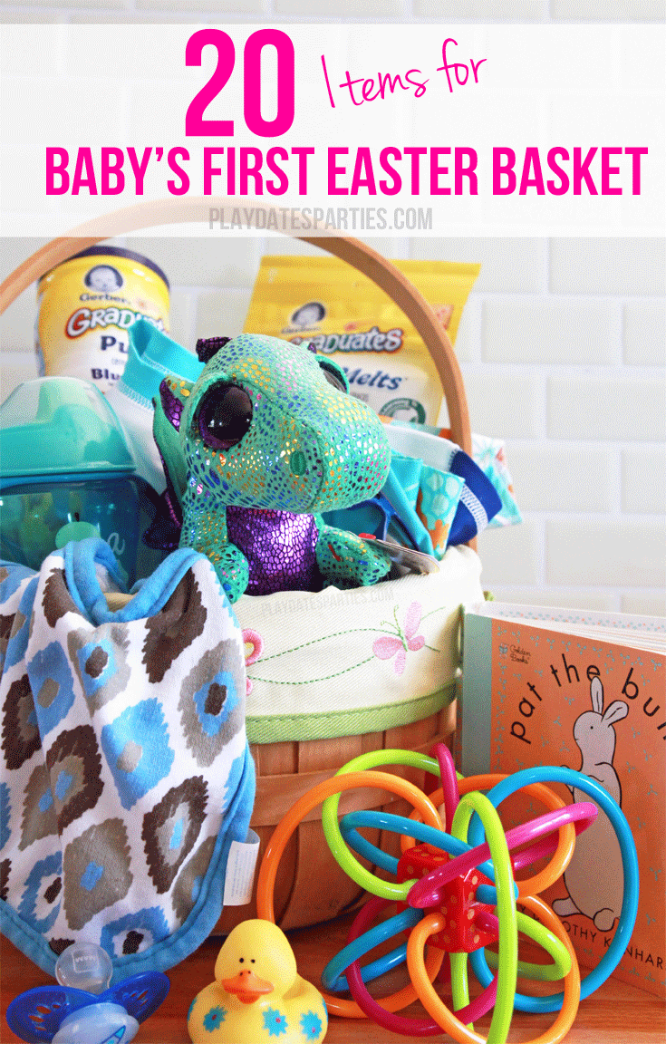 20 items for babys first easter basket pinterest easter baskets its so easy to shop for older kids easter baskets but what about baby here are 20 age appropriate gifts for babys first easter basket negle Image collections