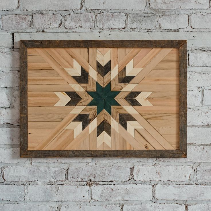 Reclaimed Wood Wall Art - Green Star In 2019