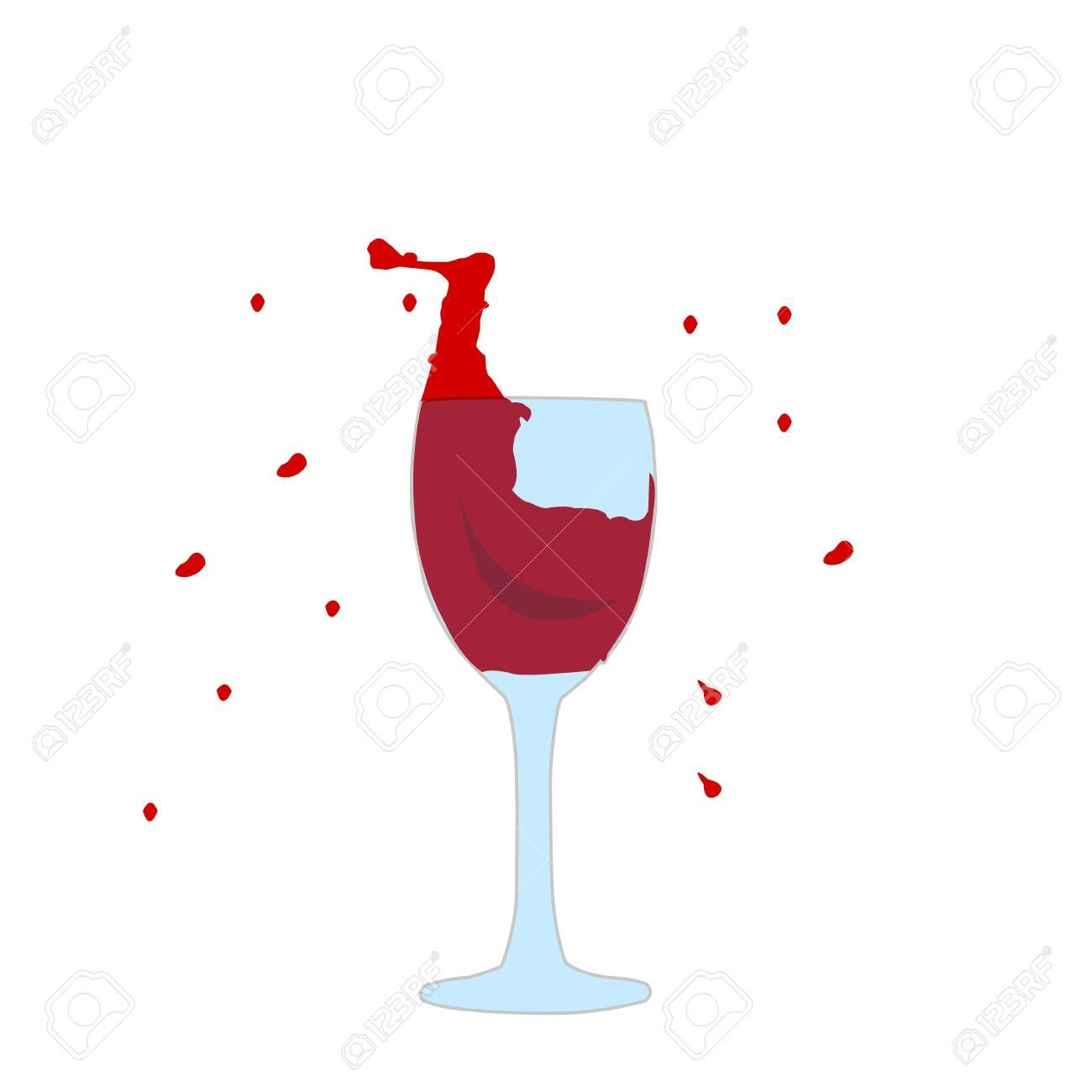 Splash Of Red Wine In A Glass Around Small Drops Alcohol Drinks Concept Aff Wine Glass Splash Red S In 2020 Alcoholic Drinks Character Illustration Splash