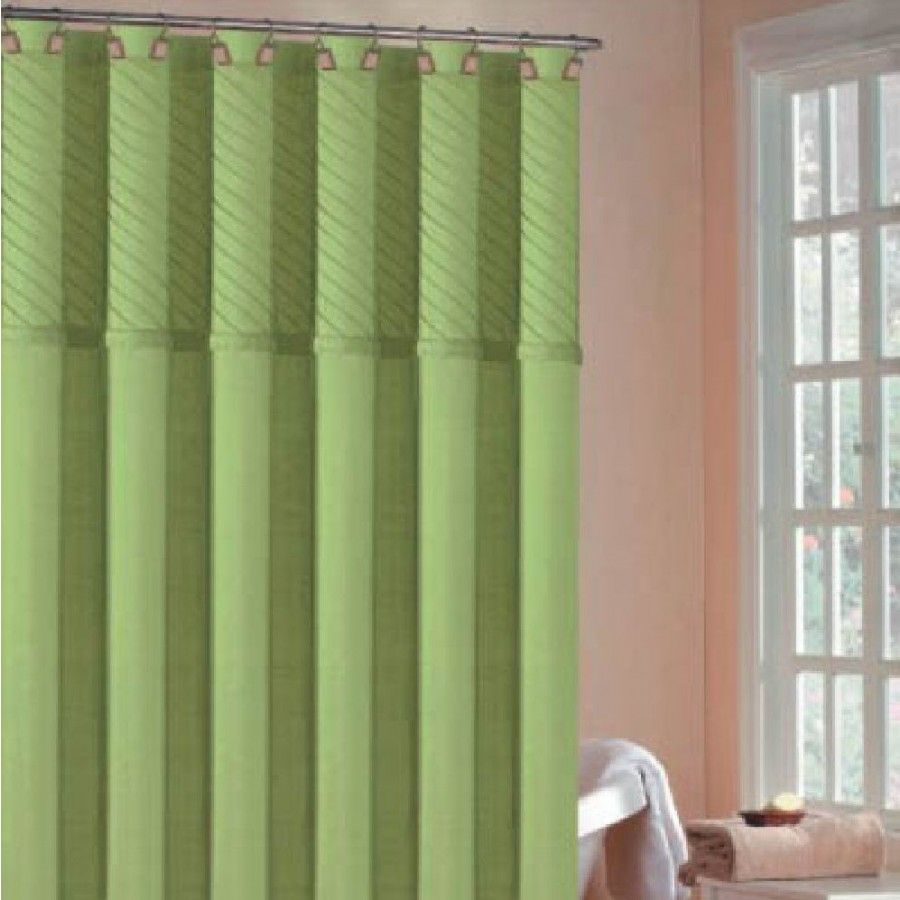 Dr International Annecy Pin Tuck Shower Curtain In Lime Green Anslg 12 8678 Fabric Shower Curtains Curtains Shower Curtains Walmart
