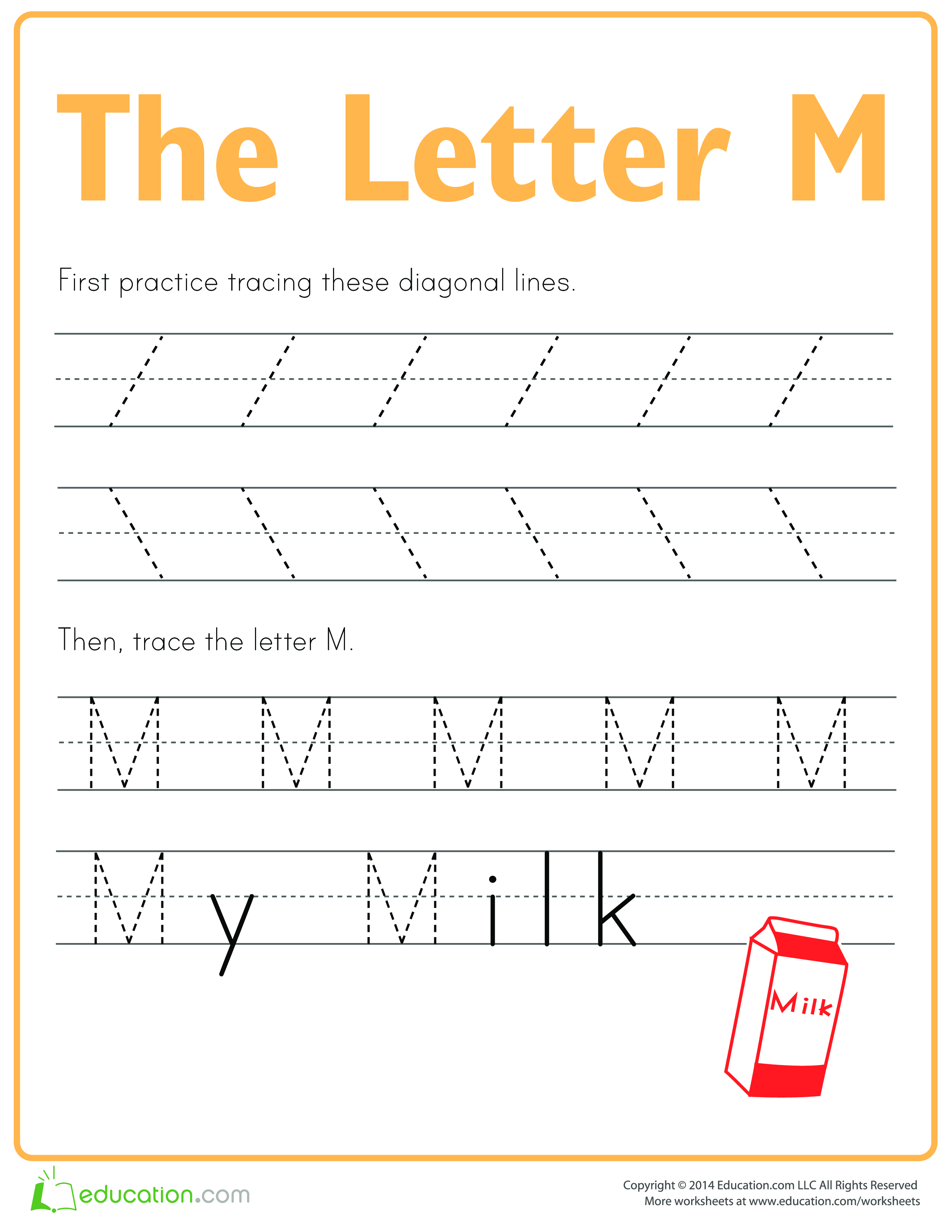 Practice To Write Letter M