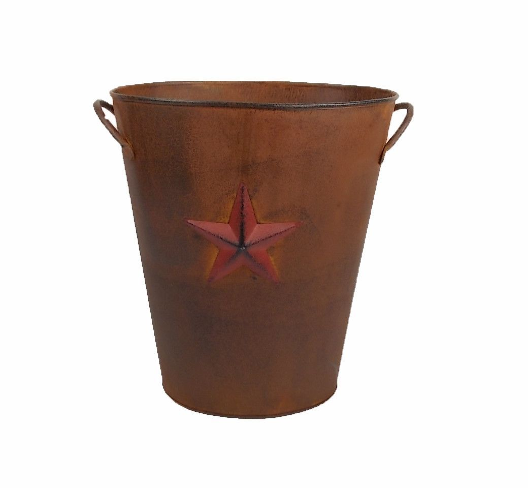Country Star Tin Bucket