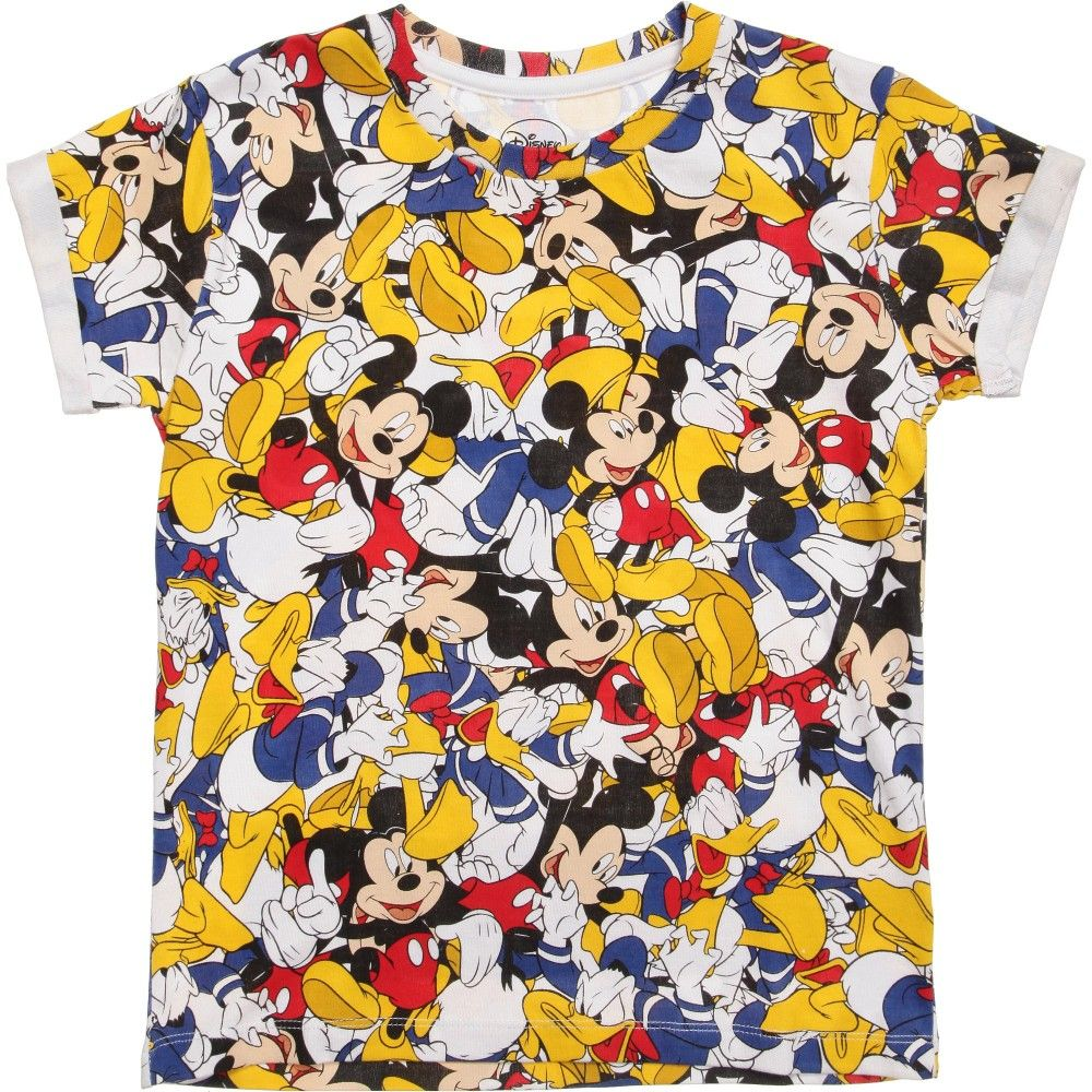 ba1643471b4 Little Eleven Paris Unisex  Mickey Mouse     Donald Duck  T-Shirt at  Childrensalon.com