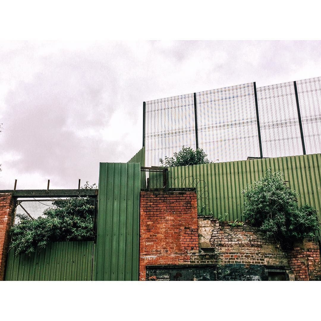 Peace wall seen from the Protestant side. Belfast Northern Ireland. by nuritpetite