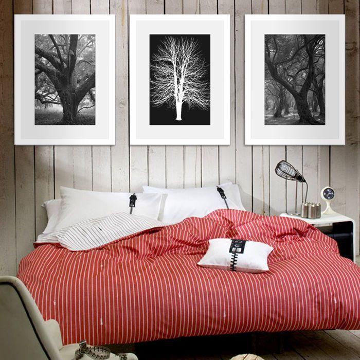 Elevenfy | 3 Pcs Photo Frame Wood Made White Wall Mounted Art Nostalgic  Home Decor Set