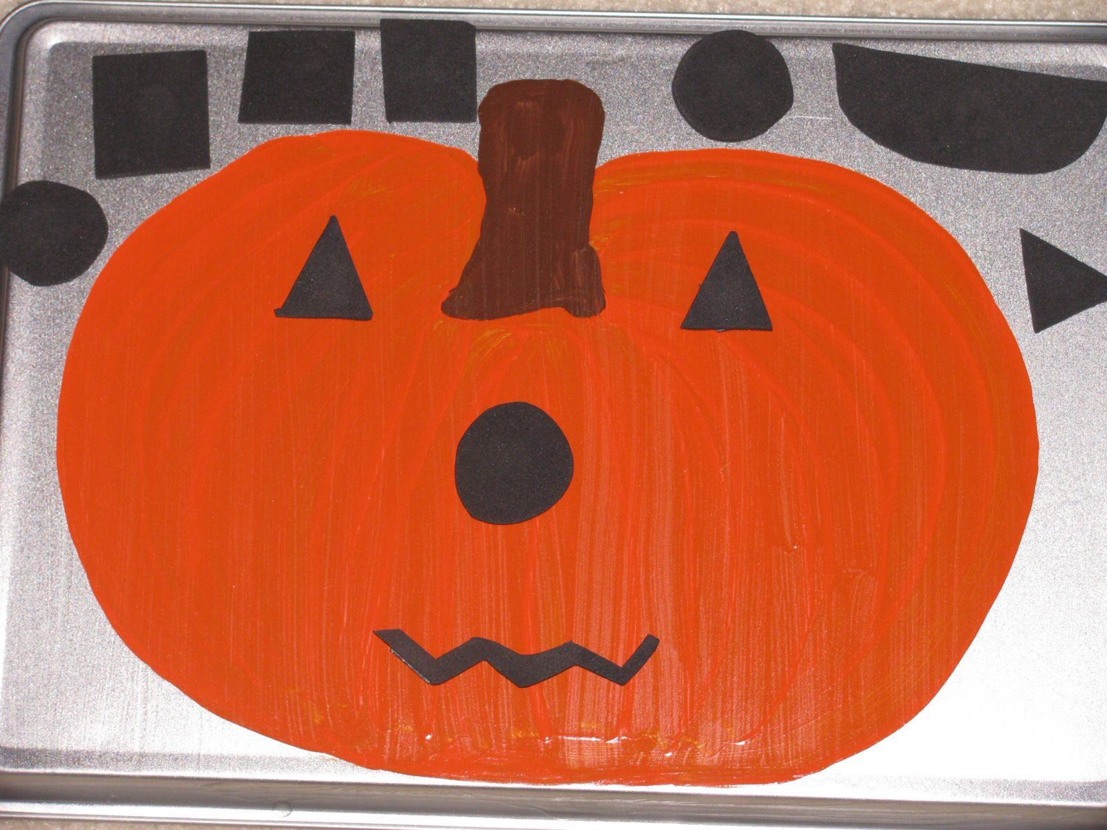 Jack O Lantern Face Magnet Board Story Pieces Made Of