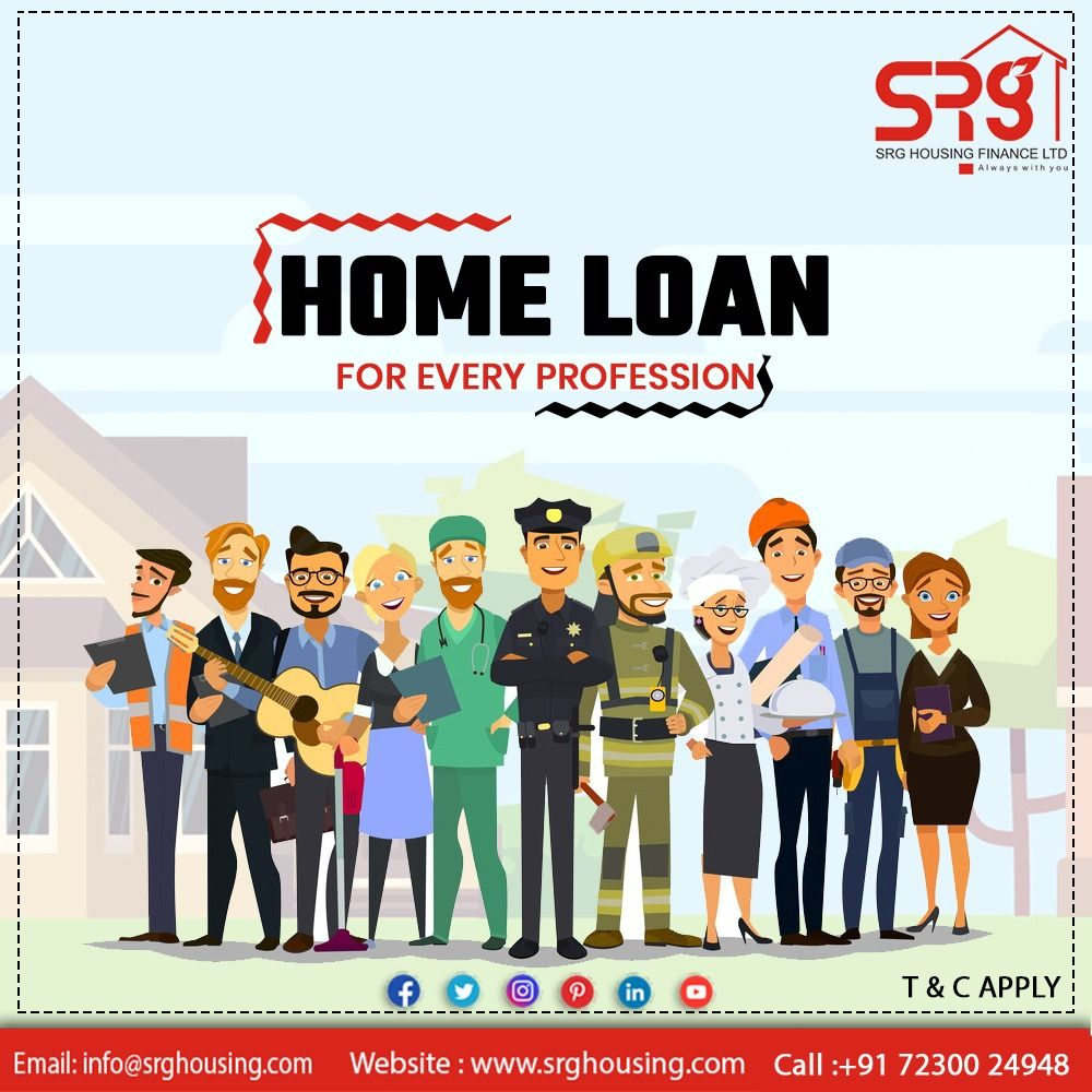 Home loan is available at srghousingfinance for every
