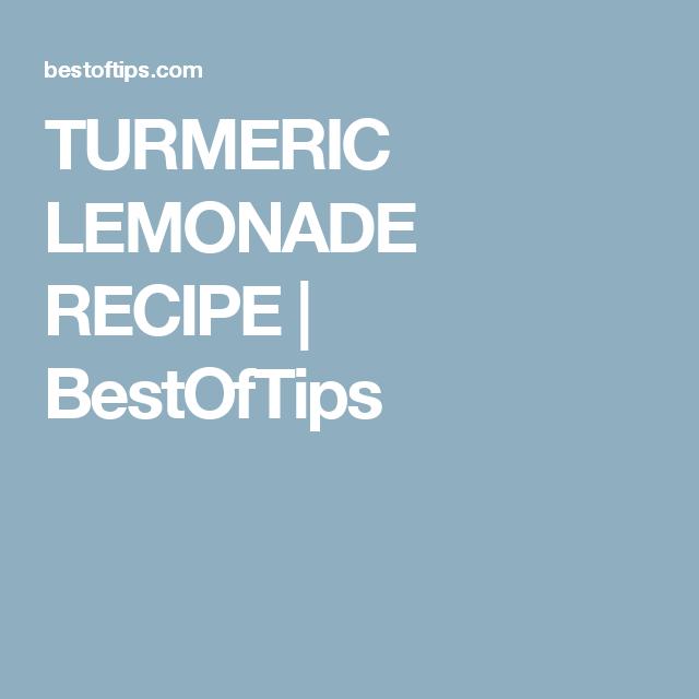 TURMERIC LEMONADE RECIPE | BestOfTips