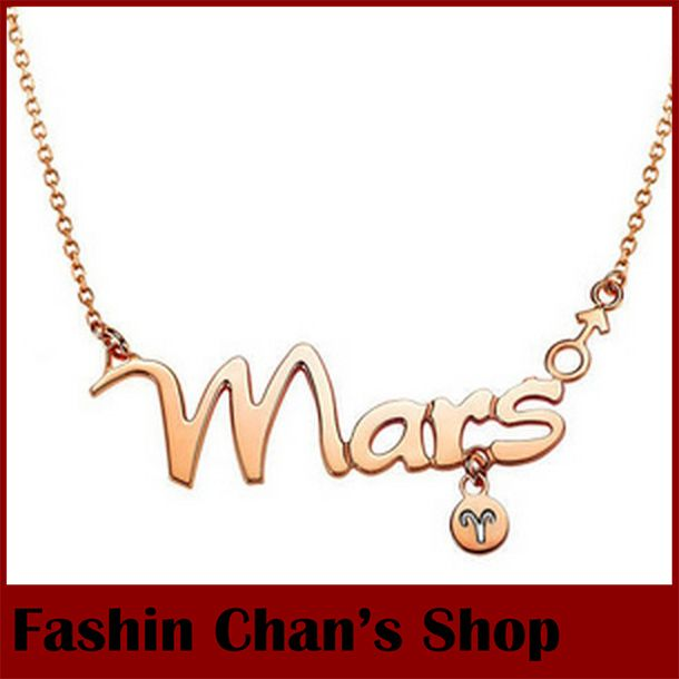 Cheap necklace bag, Buy Quality necklace supplier directly from China necklace lotus Suppliers: 2014 fashion high quality women gold plated The Signs of the Zodiac necklace letter pendant necklace wholesale   Conditi