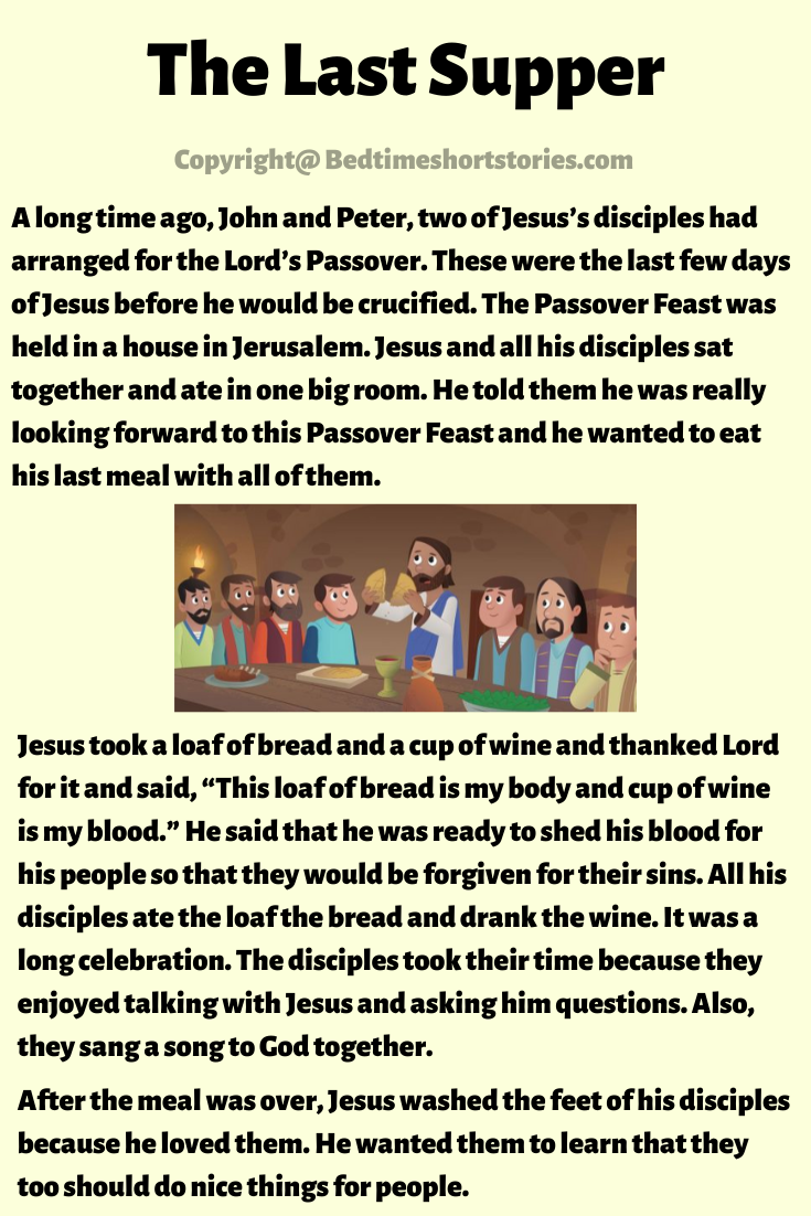 The Last Supper In The Bible English Stories For Kids Bible Stories For Kids Stories For Kids [ 1102 x 735 Pixel ]