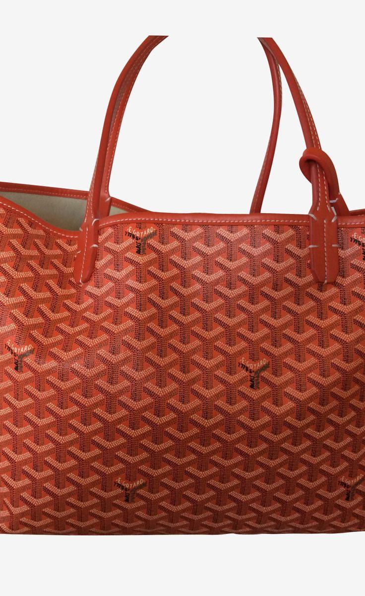 Goyard Orange Tote | VAUNTE | Products I Love | Pinterest