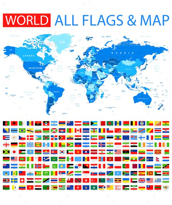 All flags and world map flags illustrators and ai illustrator all flags and world map map vectorvector graphicsai gumiabroncs Gallery