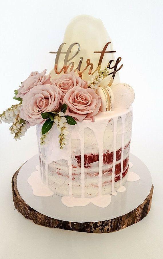 30th Birthday Cake Topper Reads Thirty 30th Birthday Cake