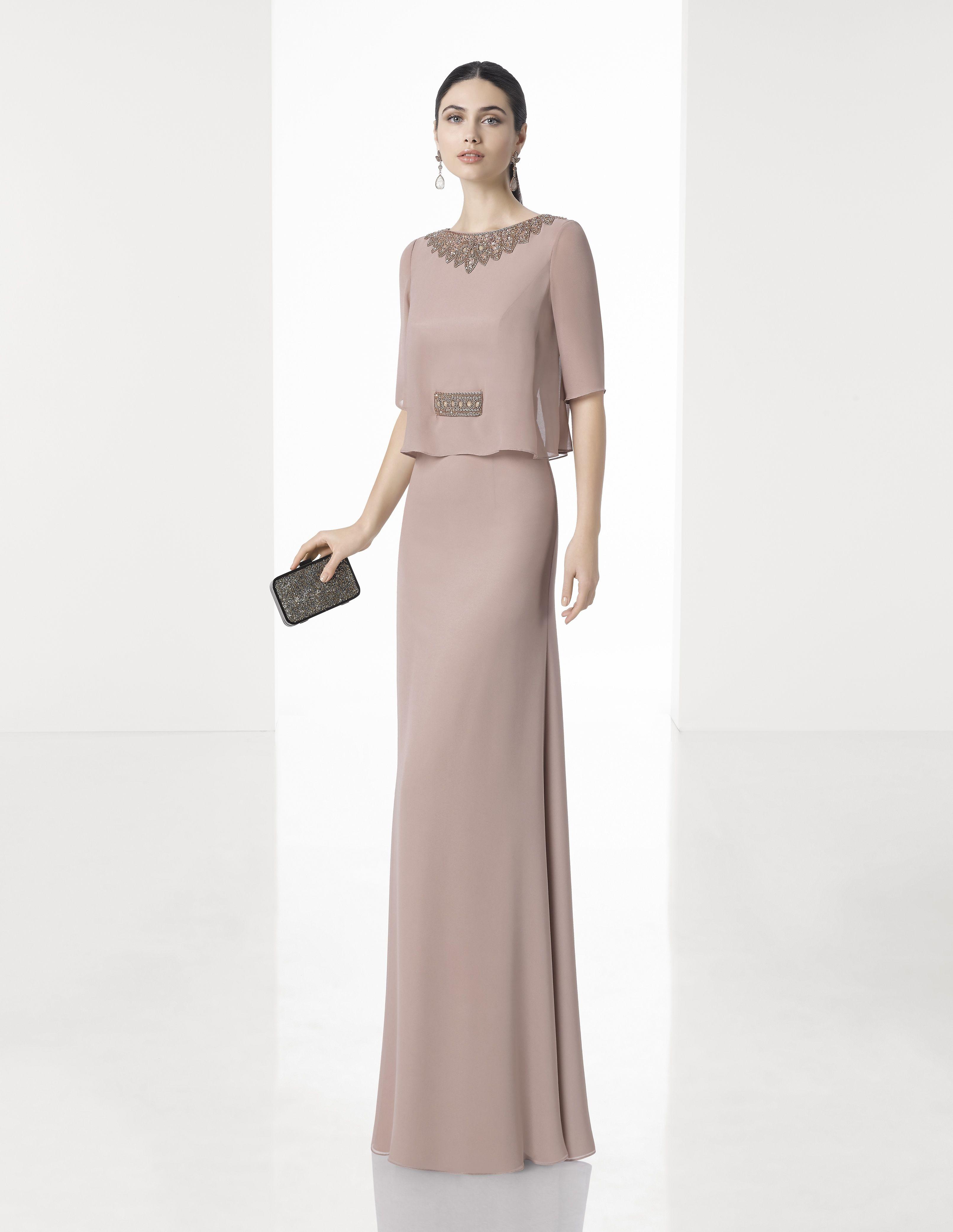 c41dbd66f Vestidos madrina boda rosa clara - Vestido azul