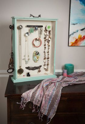 DIY Jewelry Organizer Made from Salvaged Drawer Drawers Hardware
