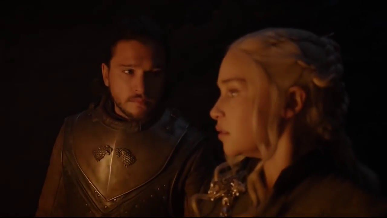 Game Of Thrones 7x04 Jon And Daenerys In The Dragonglass Cave Hd