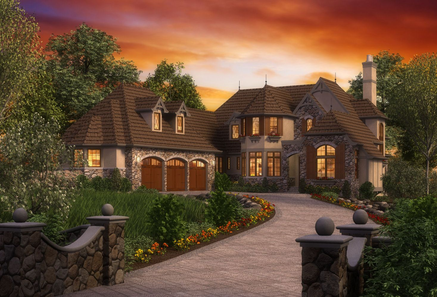 This european luxury cottage house plan is something you for Rivendell cottage house plans