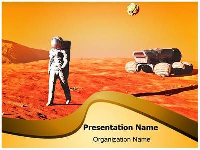 astronaut on mars powerpoint template is one of the best powerpoint