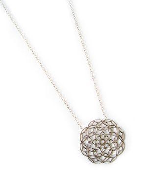 Silver Astor Filigree Pendant