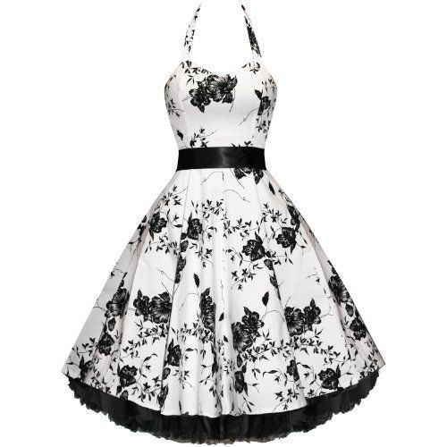 Hearts And Roses London Floral 50S Rockabilly Pinup Party Swing Prom ...