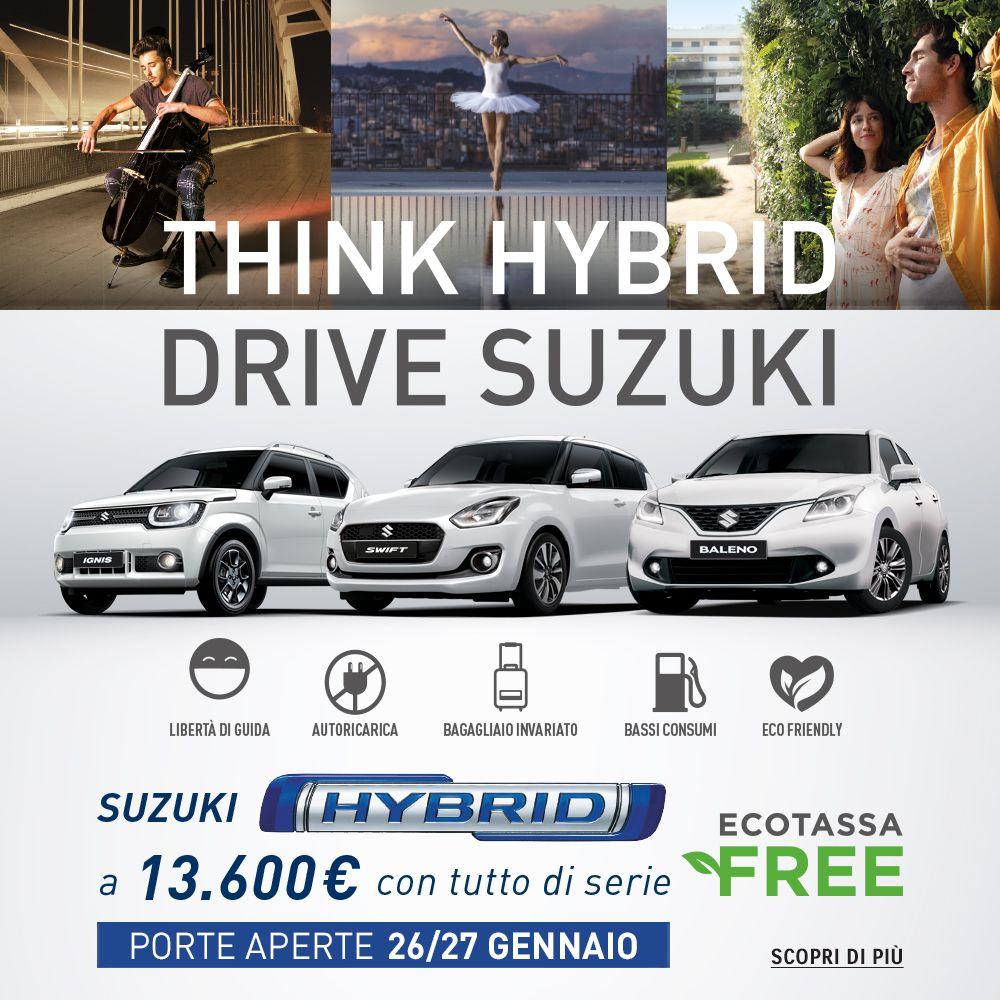 Porte Aperte Suzuki HYBRID il 26 e 27 Gennaio 2019 | Drive & Ride