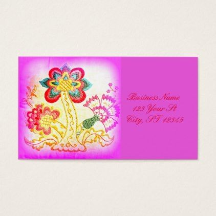 Groovy hippie style palm tree pink business card pink trees and names groovy hippie style palm tree pink business card colourmoves