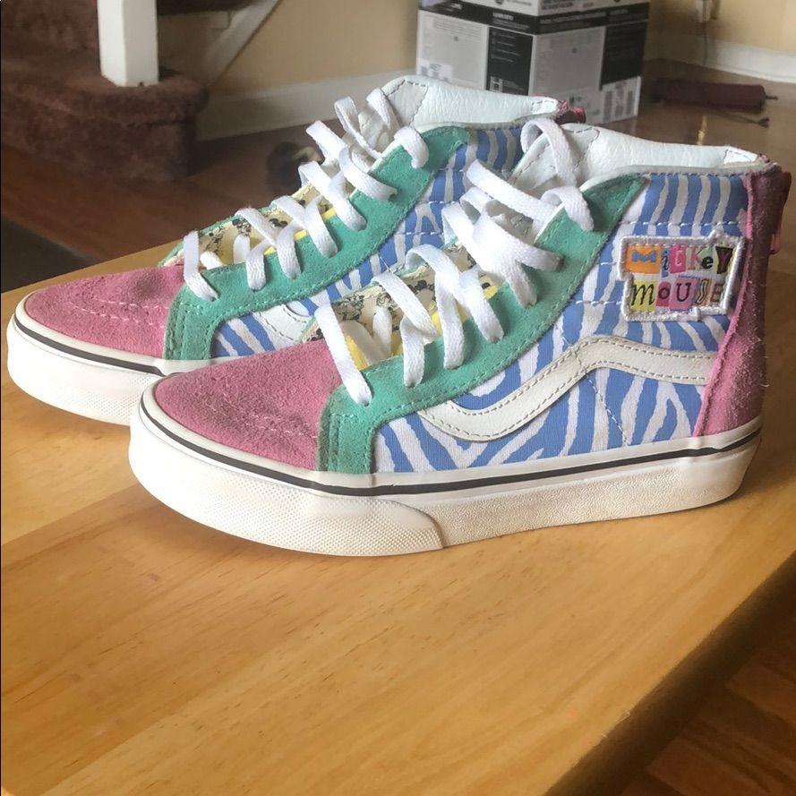 Vans Shoes | Vans Sk8 Hi Zip Disney Edition | Color: Pink