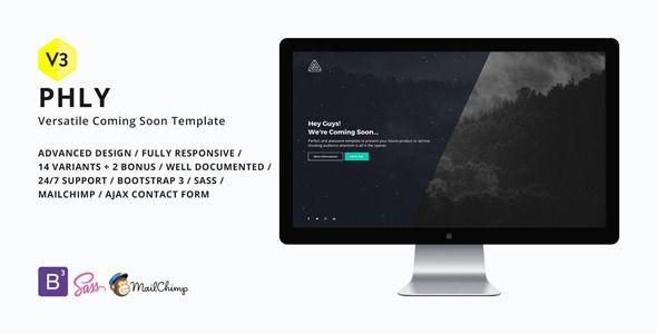 phly versatile coming soon template web design. Black Bedroom Furniture Sets. Home Design Ideas