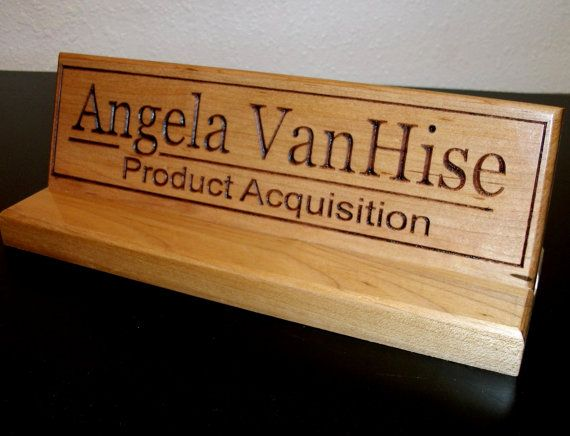 Customized Personalized Oak Name Office Desk Plaque Sign Desk Sign Plaque Sign Desk Plaques