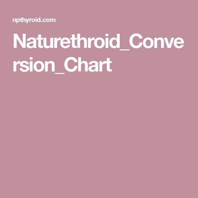 Naturethroid Conversion Chart Chart Conversion Chart Thyroid