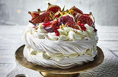 Fig and cardamom Pavlova | Tesco Real Food | Recipe ...