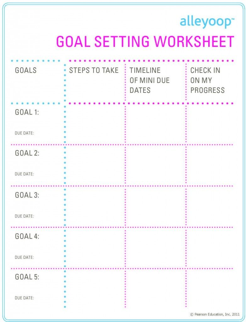 Goal Printable Goal Charts Setting Goals Goals Printable